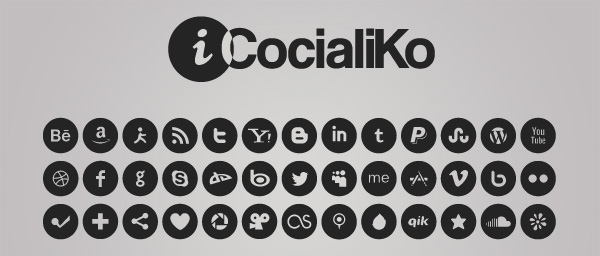 600x256 32 Free Clean And Simple Social Media Icon Sets Free Graphics