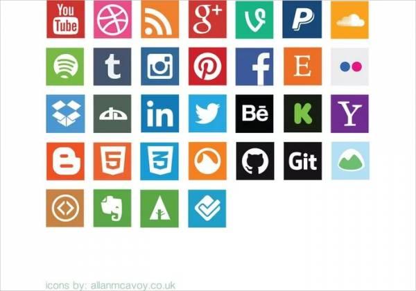 600x420 Social Media Icons
