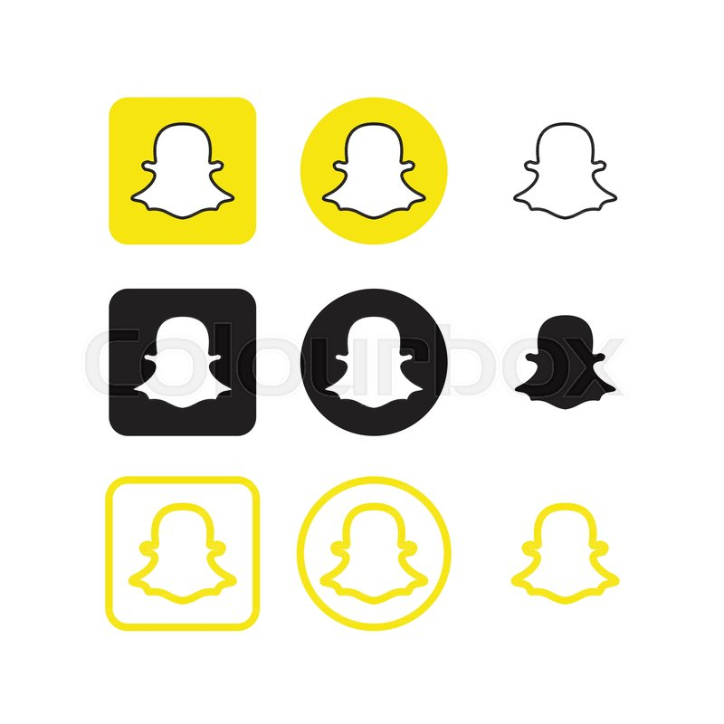800x800 Collection Of Snapchat Social Media Icons Vector Stock Vector