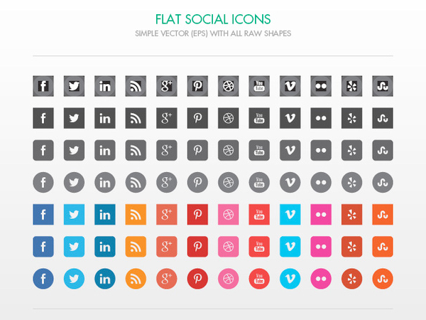 600x450 Free Vector File Of The Week Free Vector Social Media Icons
