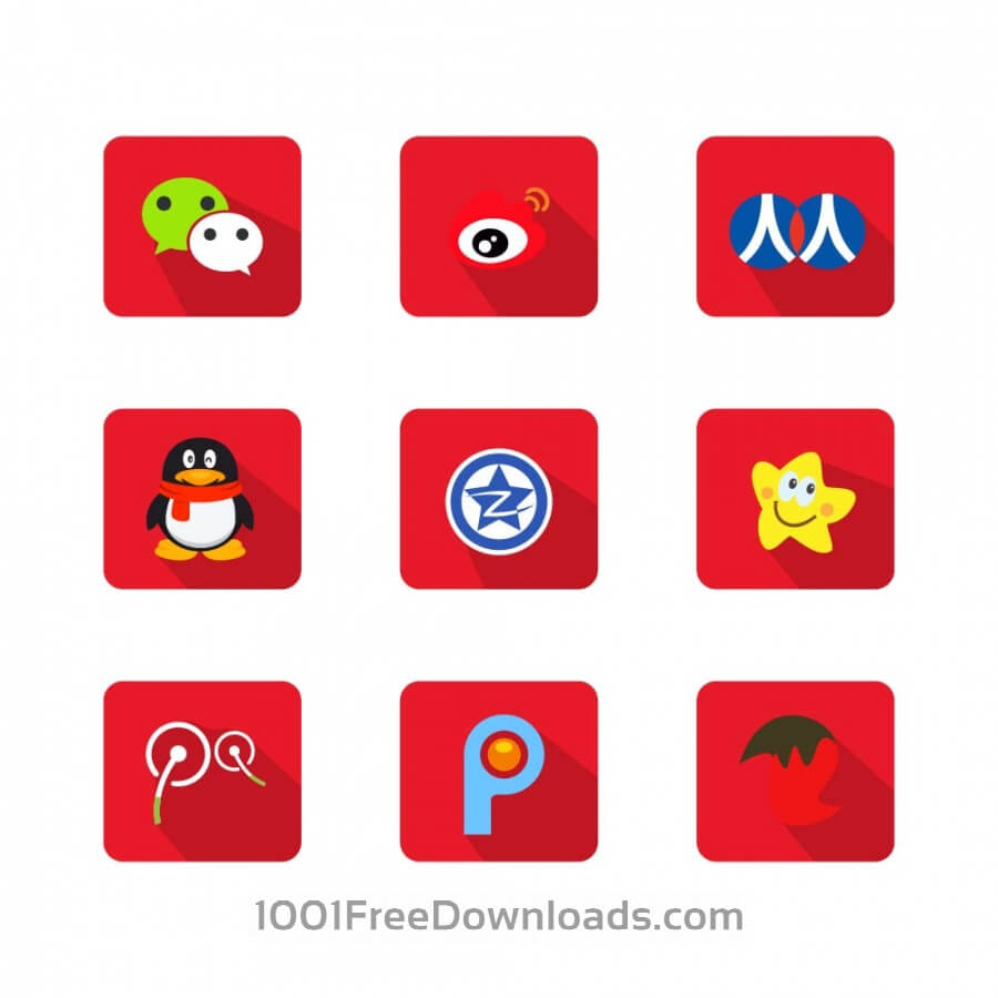 900x900 Free Vectors Chinese Social Media Icons Icons
