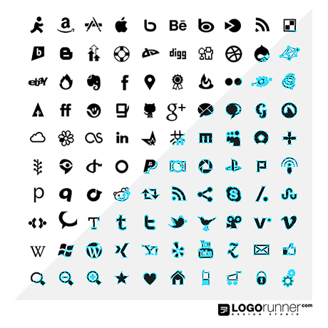 460x460 100 Free Vector Social Media And Web Icons Logorunner Design