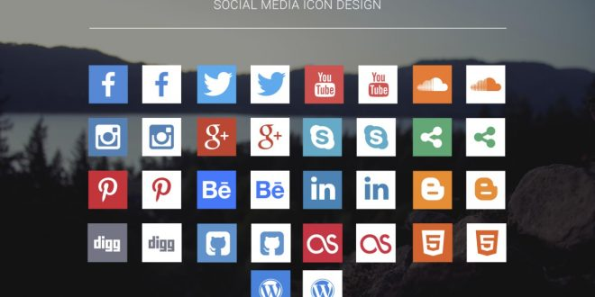 660x330 Free Social Media Icons 2017 In Psd And Vector