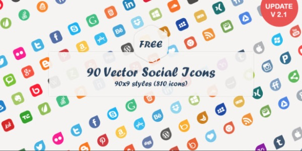 600x300 Best Free Social Media Icons Sets 2017