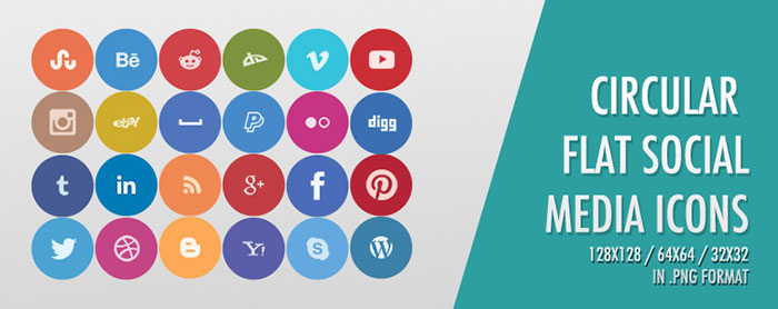 700x278 25 Awesome Social Media Icon Sets For 2018