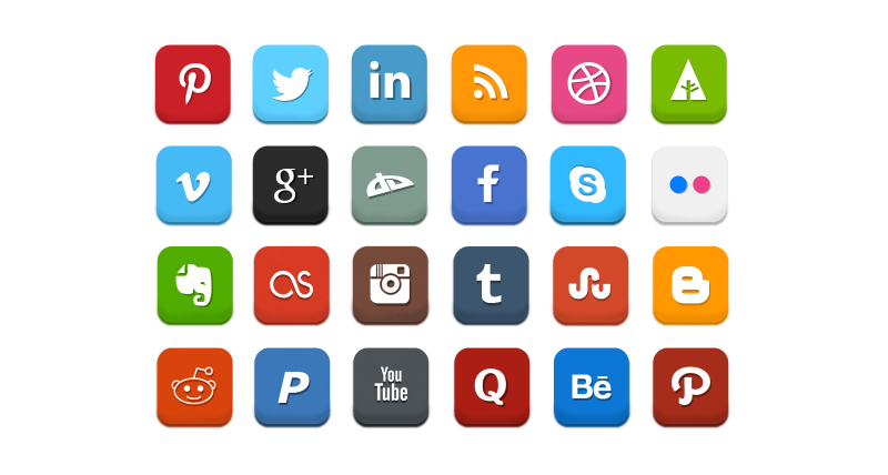 800x428 25 Free Social Media Icons For Photoshop And Illustratror
