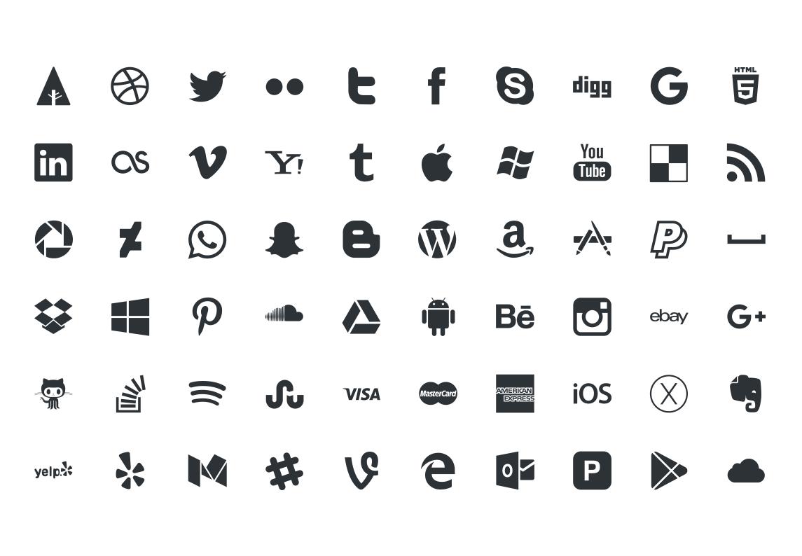 1145x794 Picons Social Media Vector Icons