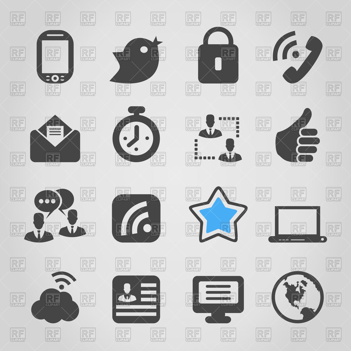 1200x1200 Set Of Social Media Icons Vector Image Vector Artwork Of Signs