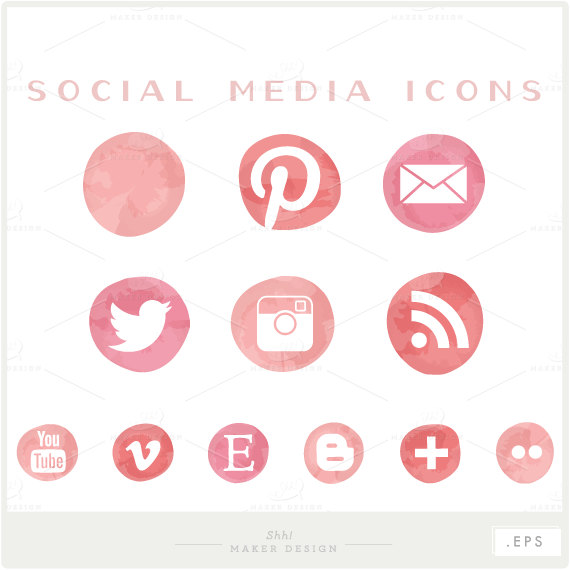 570x570 Social Media Icons