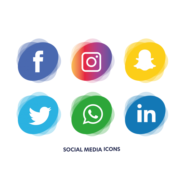 640x640 Social Media Icons Set, Social, Media, Icon Png And Vector For