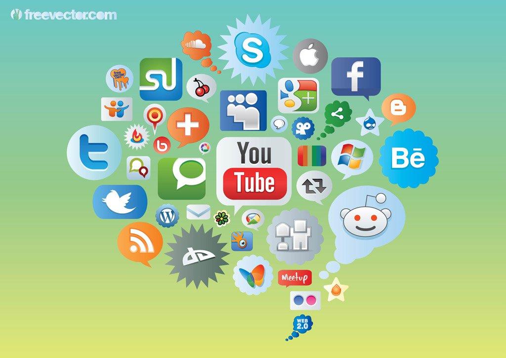 1024x725 Social Media Icons Vector Art Amp Graphics