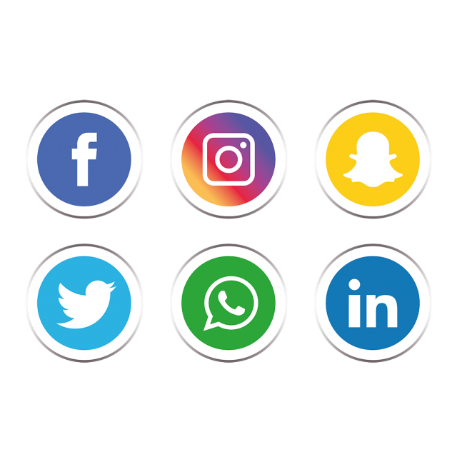 640x640 Social Media Clipart Black And White Download Vector