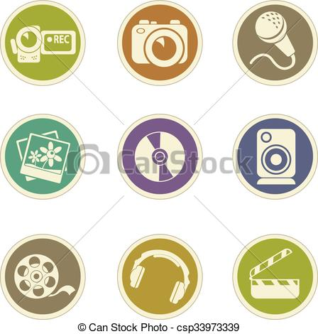 448x470 Social Media Icons. Social Media Vector Icons For Web Sites And