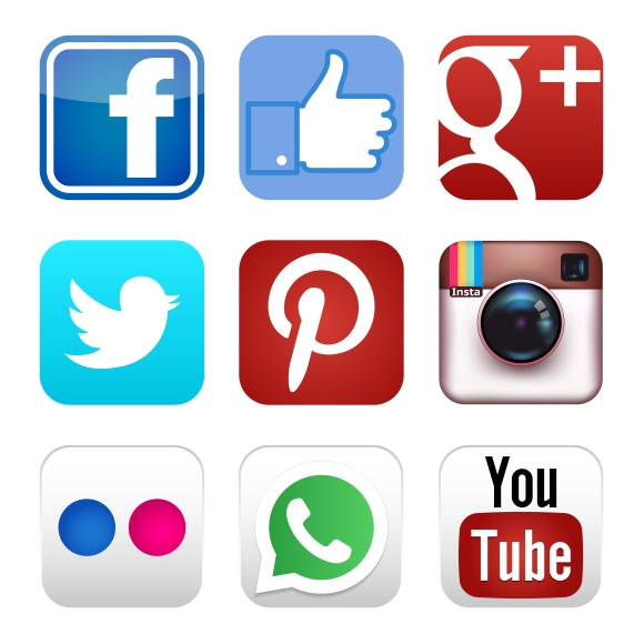 580x580 Social Media Icons Show Your Site To The World