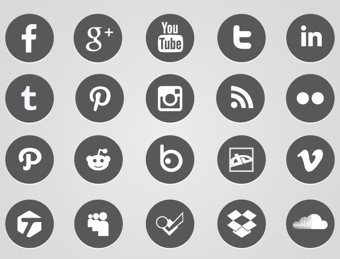 690x526 Free Round Facebook Icon Vector 421541 Download Round Facebook