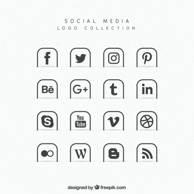 626x626 Free Social Media Icons Vector Beautiful Collection Of Social