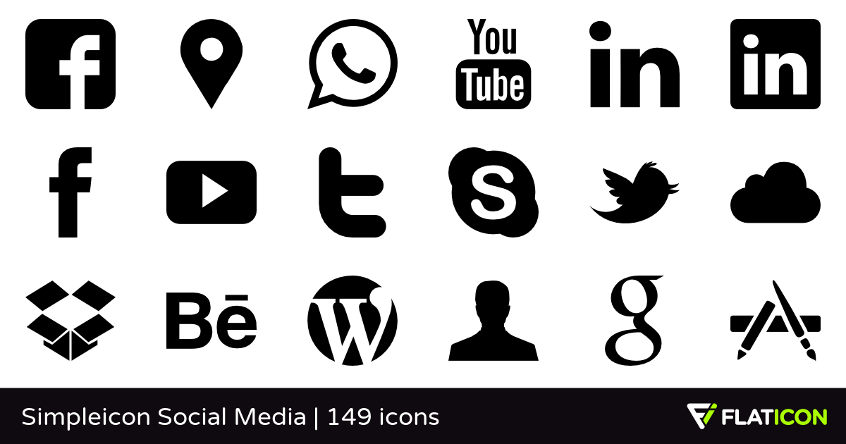 1200x630 Simpleicon Social Media +145 Free Icons (Svg, Eps, Psd, Png Files)