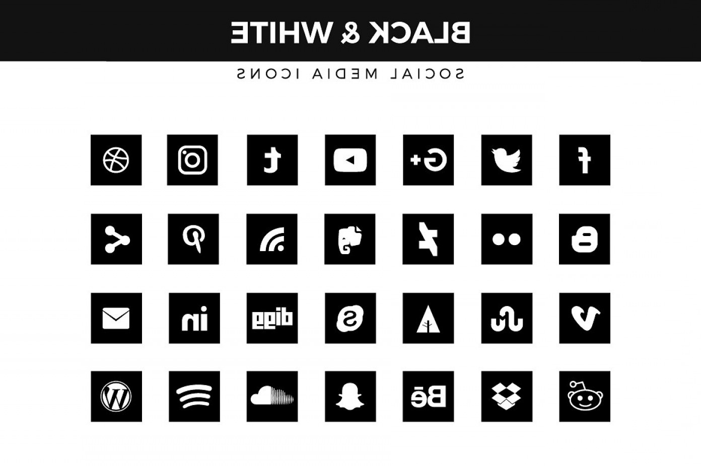 1392x926 Social Media Icons Vector Black And White Lazttweet