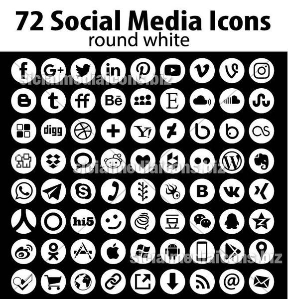 578x600 1152 Vector Social Media Icons Pack In 16 Great Collections