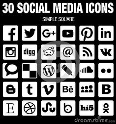 236x251 136 Best Social Media Icons Images In 2018 Design