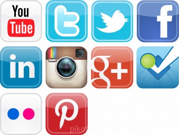 626x472 Ai] Glossy Social Media Icons Vector Set Vector Free Download