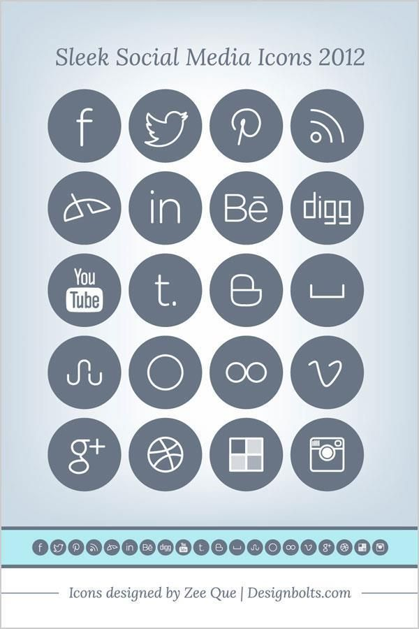 600x900 Flat Social Media Icons Pack Free To Download Photoshop