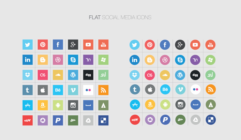 800x465 10 Social Media Icons Vector Images