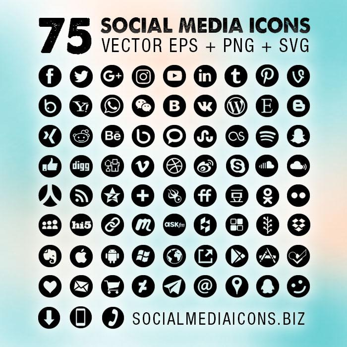 700x700 Results For Round Social Media Icons Vector Free Download