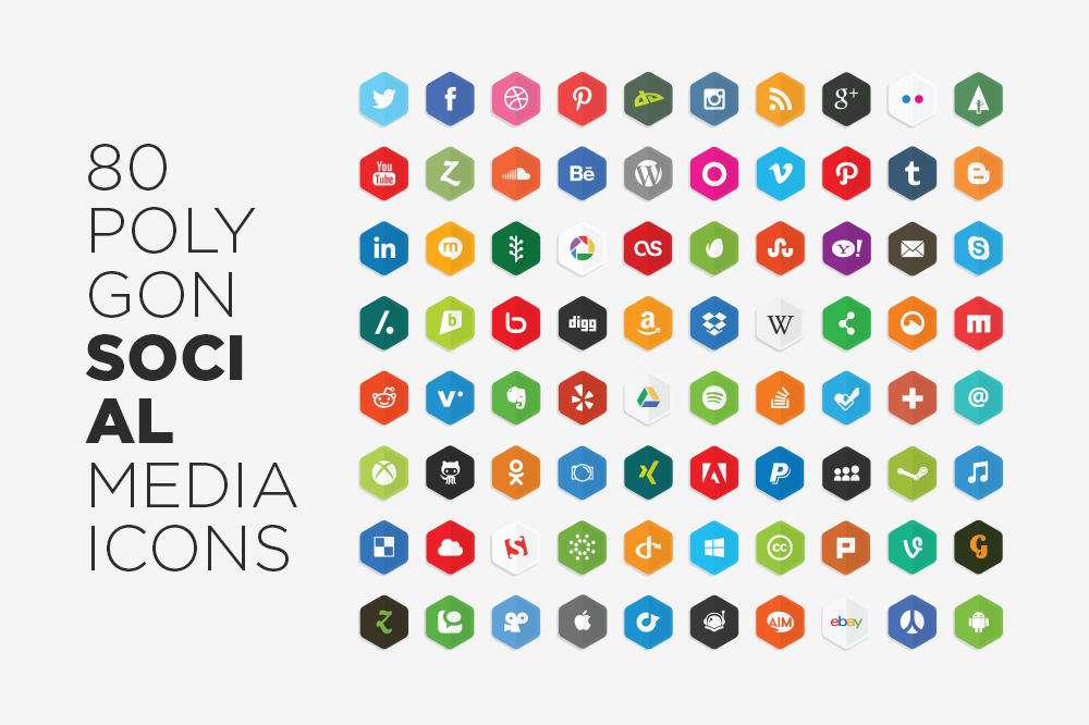 1000x666 100 Free Social Media Icons Sets Dealbuddy Download Social Media