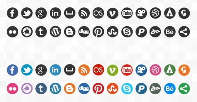 690x359 Social Media Icons Vectors Free Download Images