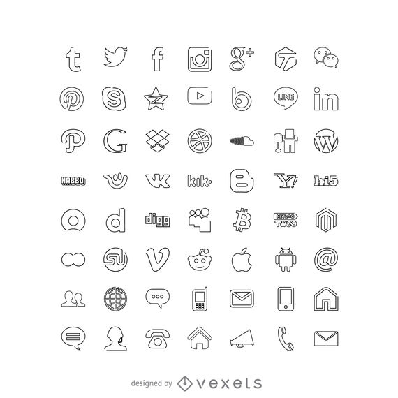 570x570 Social Media Icons Collection