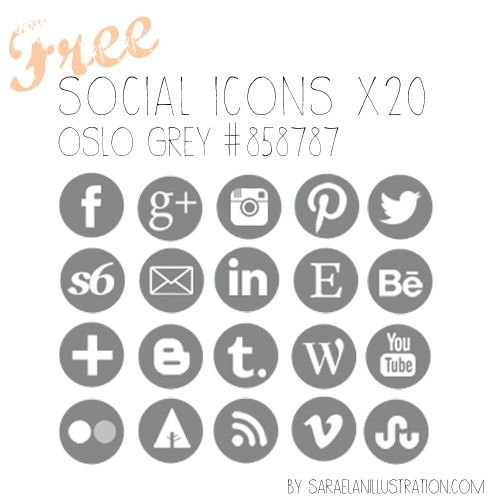 500x500 Vector Social Media Icons Free Download (12 Images)