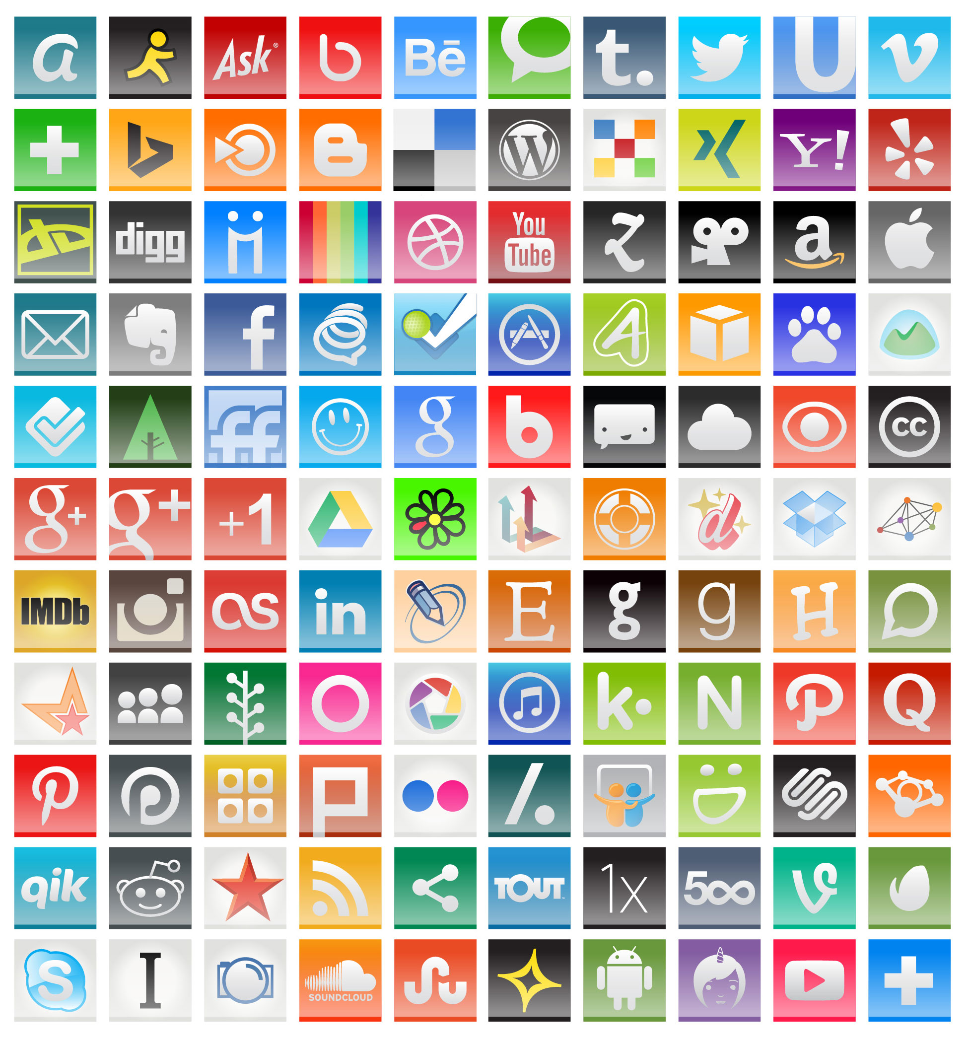 1952x2093 110 Free Social Media Icons For 2014 Vector + Pngs