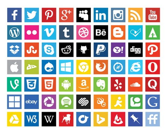 550x424 12 Social Media Icons Vector Free Images