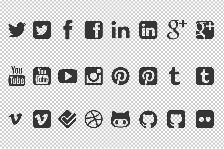 900x600 Free Social Media Icon Vector Shapes For Photoshop Freebies