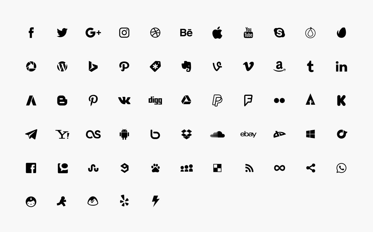 1260x784 Free Social Media Icons (Vector)