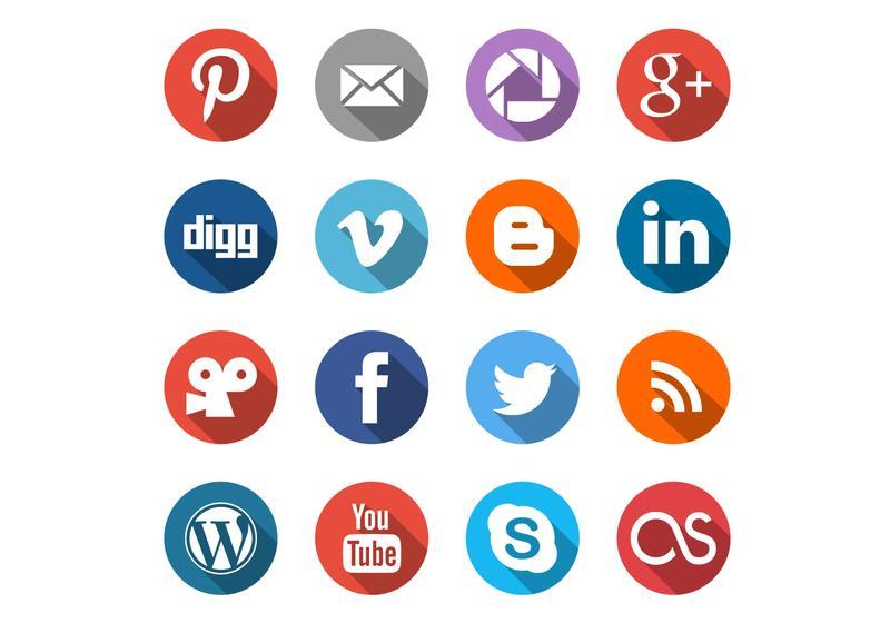 800x560 Free Social Media Icons