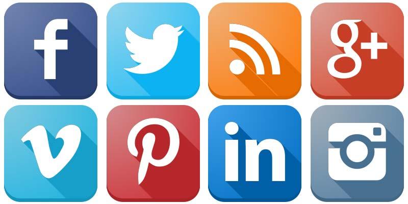800x400 Social Media Icons Vector