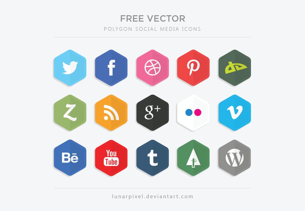 Social Media Logos Vector Free