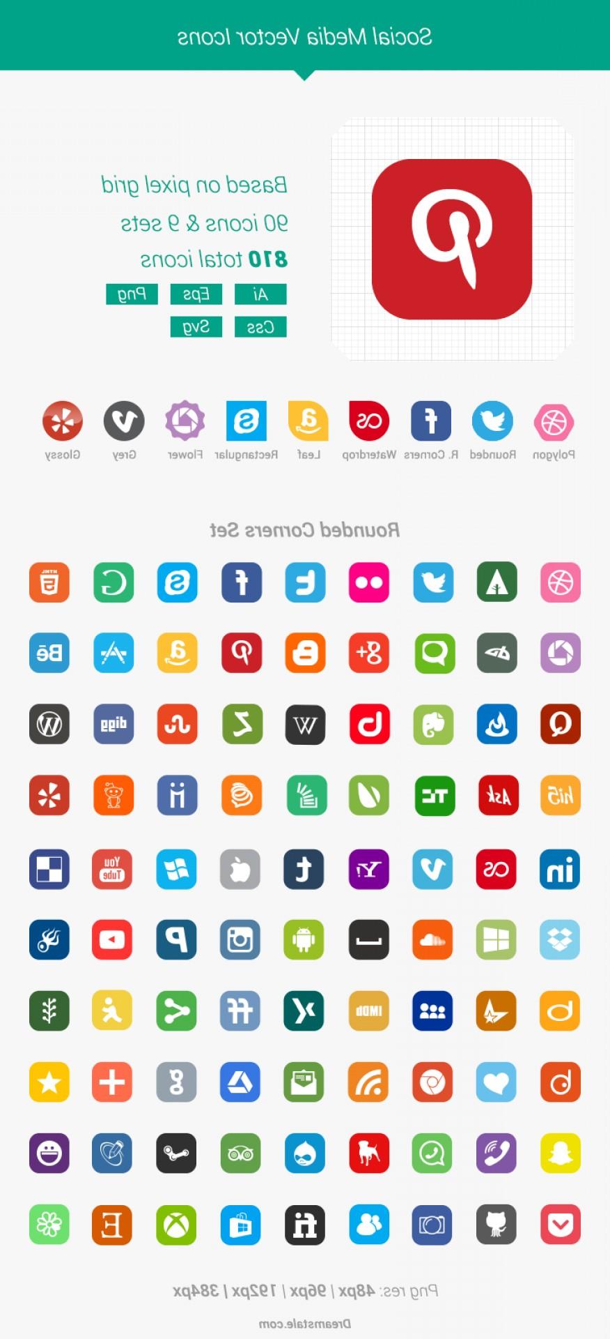 876x1920 Free Download Vector Social Media Icons Shopatcloth