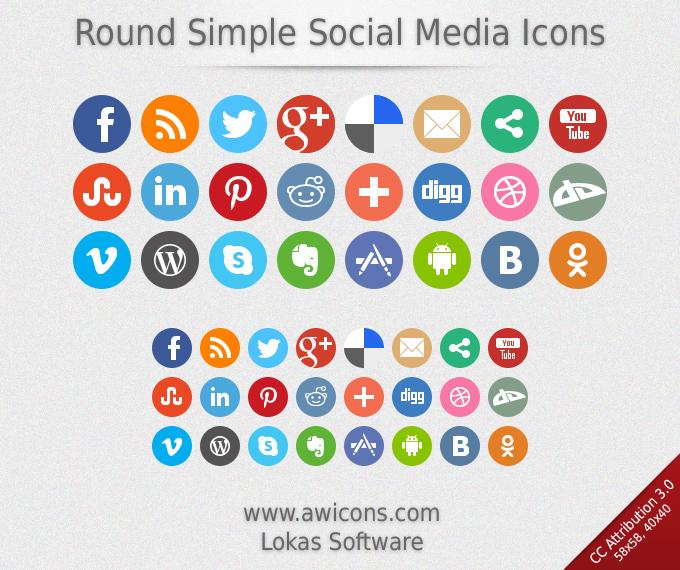 680x570 Simple Social Media Logos