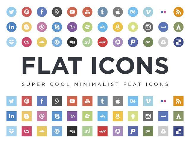 640x480 Social Media Logo Vector 36 Flat Social Icons Psdblast Ui