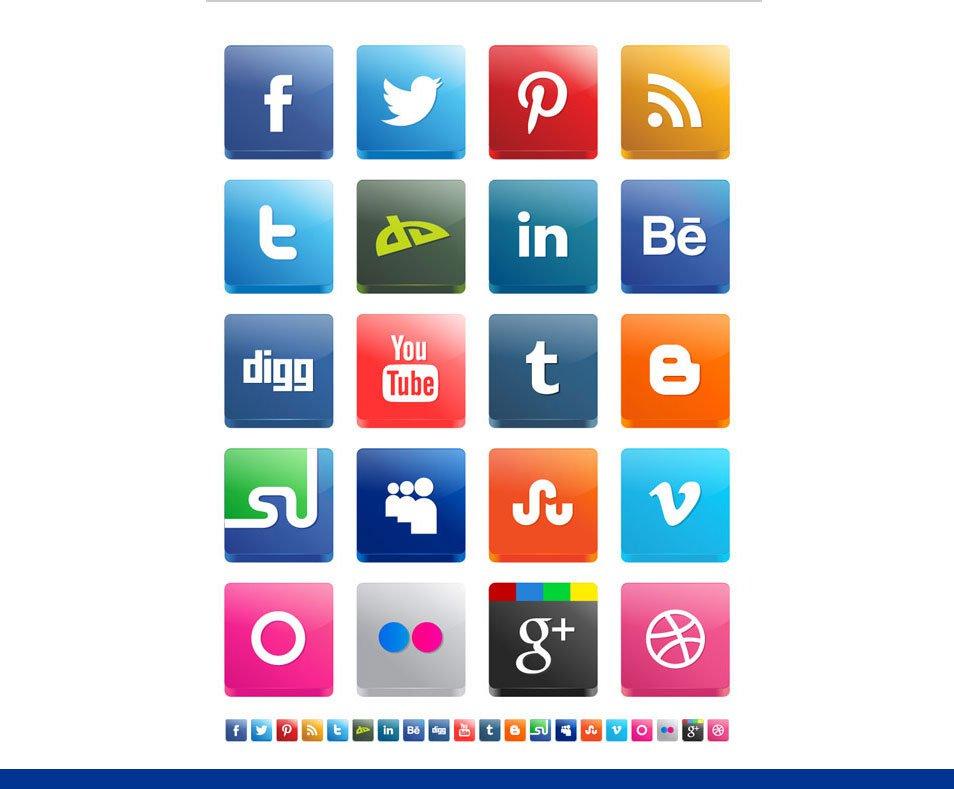 954x789 Best Free Social Media Icon Sets Free Icon Sets