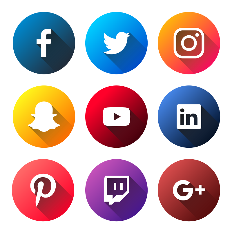 800x870 Social Media Logos Vector Social Media Logos Flat Social Media