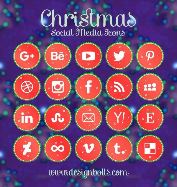 600x632 54 Beautiful [Free!] Social Media Icon Sets For Your Website