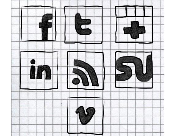Social Media Symbols Vector