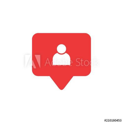 500x500 Follower Icon Vector. Social Media Follower Vector Icon. Social