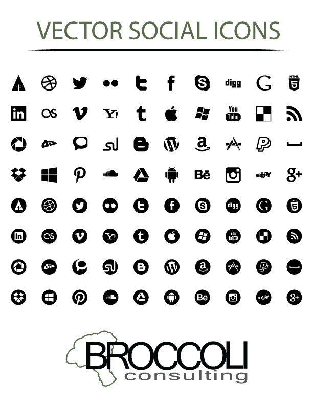 612x792 Free Vector Social Media Icons Crystal Lengua Business Blog