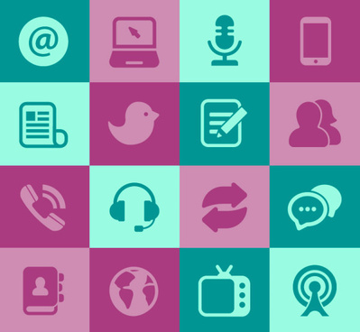 399x368 Flat Social Media Icons Set Vector Png Images, Backgrounds And