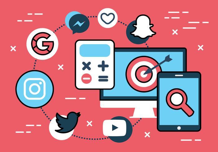 700x490 Free Flat Social Media Vector Icons